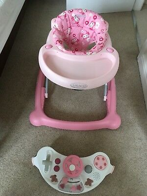 GRACO Baby Walker Musical Electronic Play Tray Adjustable Height Excellent condi