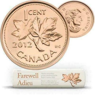 Canada 1 Cent Coin Farewell to the Penny (2012) Proof Fine Silver 1/2 Oz RCM
