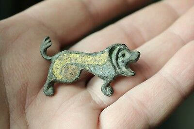 Ancient Fantastic Roman Bronze Zoomorphic Enamel Fibula Brooch 3rd-4th AD
