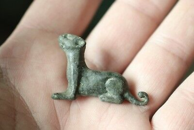 Ancient Fantastic Roman Bronze Zoomorphic Fibula Brooch 3rd-4th AD