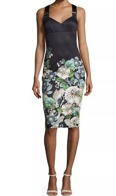 8e15606560b2f4 TED BAKER LONDON Jayer Gem Gardens Fitted Sheath Dress