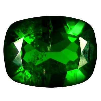1.27 ct Excellent Cushion Cut (8 x 6 mm) Russian Chrome Diopside Loose Gemstone