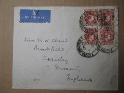 1939 British Nigeria To Great Britain Airmail Cover (ZZ46)