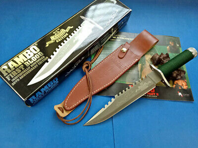 Hot! Rambo First Blood 25Th Year Licensed Camping Survival Bowie Huting Knife