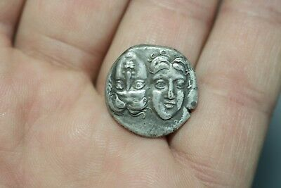 Ancient Interesting Greece Silver Coin 400 - 350 B.C.