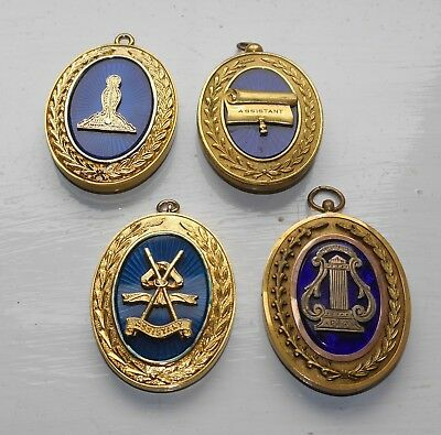 Collection Of 4 Masonic Grand Rank Collar Jewels