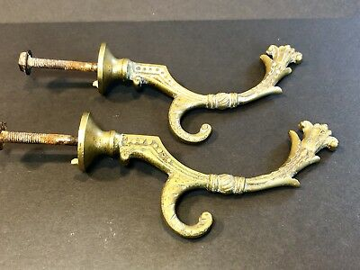 2 Antique Original Solid Brass Victorian~ East Lake?Wall Bracket/Hooks