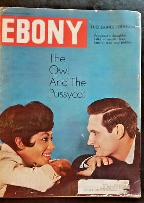 Ebony Magazine Feb 1965 Actors Diane Sands and Alan Alda cover