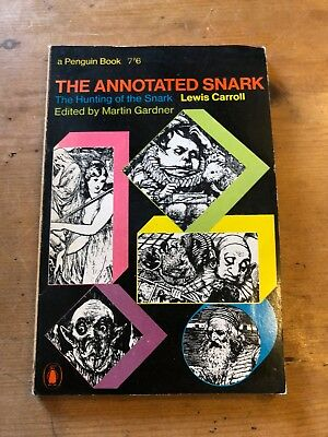 """1967 """"the Annotated Snark"""" Lewis Carroll's Hunting Of The Snark Paperback Book"""