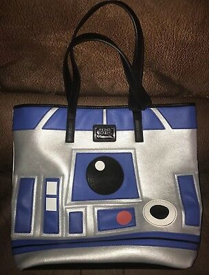 Loungefly Star Wars R2D2 BB8 2Sided Tote - Faux Leather, superior Quality,best $