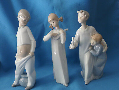Three Porcelain Figurines Similar to Lladro - Excellent Condition
