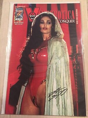 Vamperotica Divide And Conquer #1 Julie Strain Cover Signed Kirk Lindo