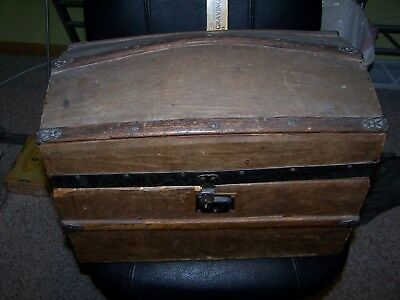 Antique Dome Top large Doll Trunk