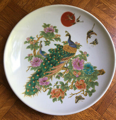 Chinese Porcelain Plate Famille Rose , 1950