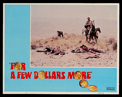 FOR A FEW DOLLARS MORE original lobby card #3 EASTWOOD LEONE R1980s