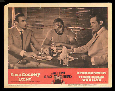 DR NO FROM RUSSIA WITH LOVE original lobby card #7 1965rr James Bond 007