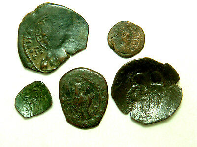 Lot of 5 Byzantine coins