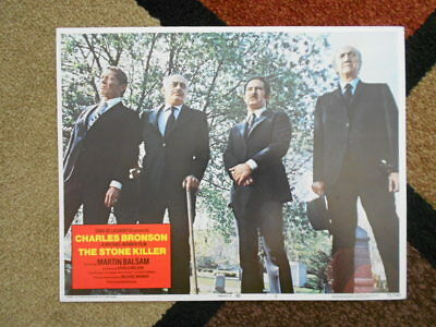 THE STONE KILLER Lobby Card #2 1973 Columbia Pictures Bronson Winner 73/241
