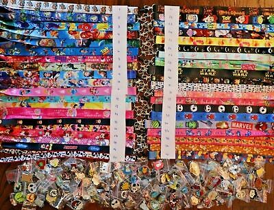 Disney World Pin Trading Lot Lanyard Starter Set With 4 Lanyards and 50 Pins