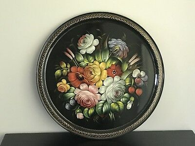 Russian Handpainted Lacquered Tray