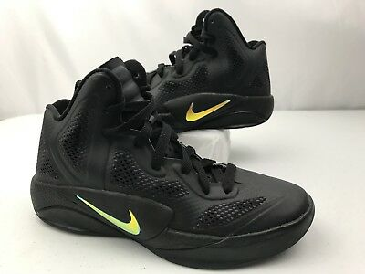 Nike Hyperfuse Black Boys Youth Size 5 Basketball Sneakers 454580-001  B1-I9