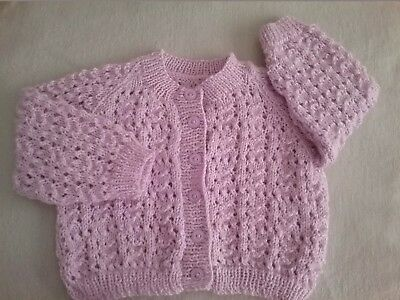 Hand Knitted Baby Girl's Cardigan - New Never Worn