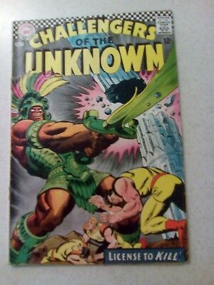 Dc Challengers Of The Unknown #56 1967 Vg