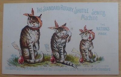 Trade Card, Three Injured Cats, The  Standard Rotary Shuttle Sewing Machine 1880