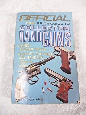 Official 1986 Price Guide to Collector Handguns by House of Collectibles #AU303