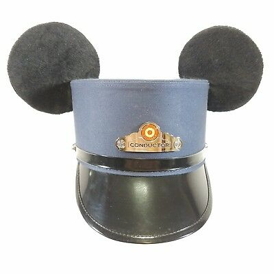 Disney Parks California Red Trolley Train Conductor hat sz Small Mouse Ears x3