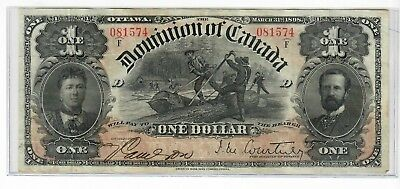"1898 Dominion of Canada $1 ""ones outward"" DC-13b Nice Higher Grade Note"