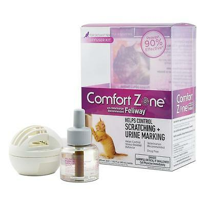 Comfort Zone Feliway Diffuser Kit For Cat Calming Reduce Unwanted Scratching 6oz