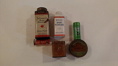 Lot of 6 Antique/Vintage Medicine and First Aid tins