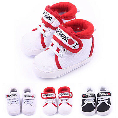 FM- Newborn Baby Kids Boys Girls Soft Sole Casual Sneaker Toddler Shoes 0-18M Wi