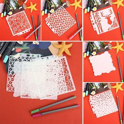 DIY Hollow Layering Stencils Wall Painting Scrapbooking Stamp Paper Template