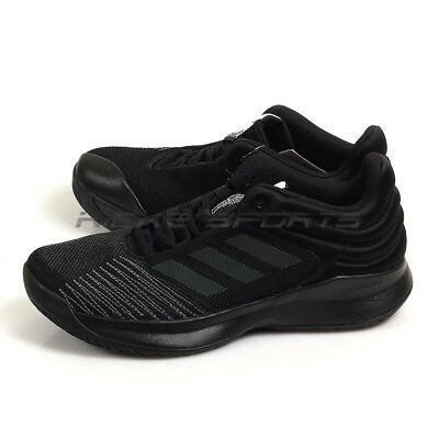 d508355ef00a Adidas Pro Spark Low 2018 Black Black Black Basketball Shoes Sneakers BB7539