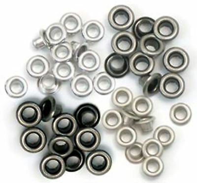 We R Memory Keepers Standard Eyelets - cool metal 60 pack - 41584-8