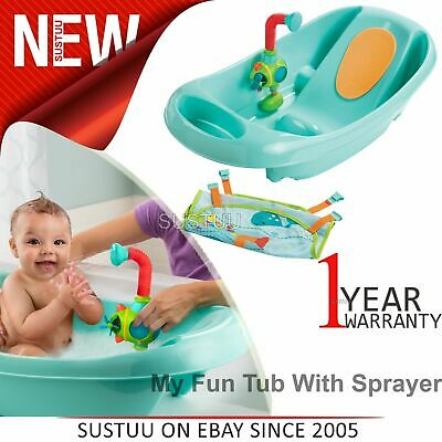 Summer Infant My Fun Tub With Sprayer│Baby/Toddler Bath Time Fun With Shower│0m+