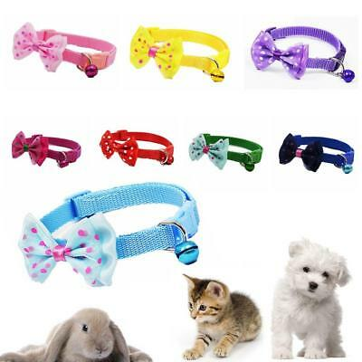 Adjustable Reflective Breakaway Nylon Cat Safety Collar with Bell for Cats Dogs
