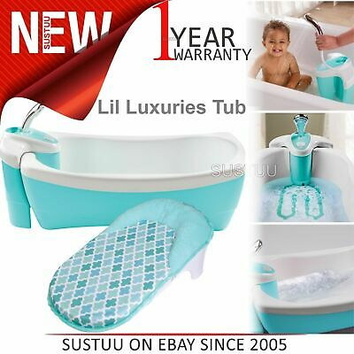 Summer Infant Lil Luxuries Tub│Toddler Bath Time Fun With Spa/ Shower+Massaging