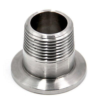 """HFS KF25 (NW-25) to 3/4"""" MALE NPT - Series Thread Stainless 304 (3/4"""" NPT MALE)"""