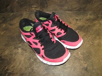 2fef83d001cf NIKE FREE TR FIT 5 BLACK WHITE LIME WOMENS 7 EUC SUPERCLEAN see pics ...