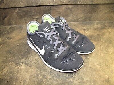 5c9905937ba1 NIKE FREE TR FIT 5 BLACK WHITE LIME WOMENS 7 EUC SUPERCLEAN see pics-details