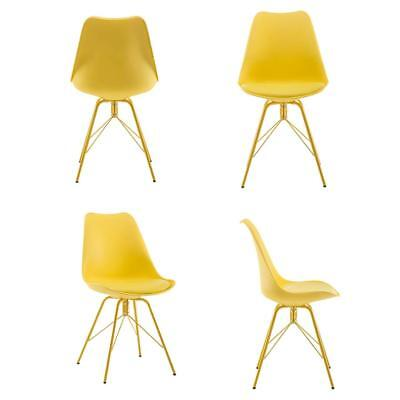 Eames Chair Set of 4 Dining Chairs with Metal Legs Modern Style Dining Chair