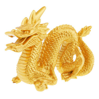 Excellent Vintage Resin Chinese Feng Shui Dragon Figurine Statue Collections