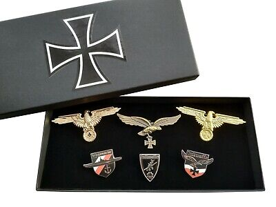 *Ultimate* German Repro Cap Badge Collection, Perched Eagle / Iron Cross Medal