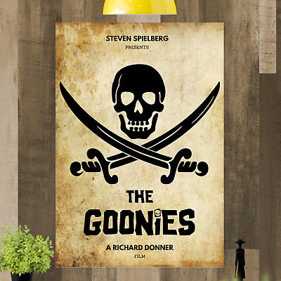 The Goonies Minimalist Movie Canvas Picture A4 A3 A2 A1 Print Ready To Hang