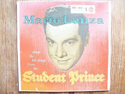 EP MARIO LANZA - sings the hit songs from the STUDENT PRINCE 1 -  RCA ERB - 1837