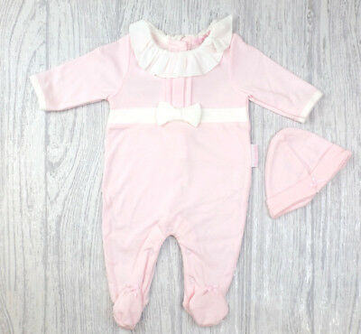 Baby Girls Spanish Style Traditional Bow & Pintuck Babygrow & Hat Outfit AW'18
