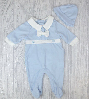 Baby Boys Spanish Style Traditional Bow & Buttons Babygrow & Hat Outfit AW'18